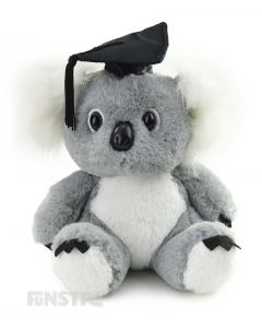 Super cute and super smart, the academic koala wears a mortarboard and makes an adorable graduation gift for students.