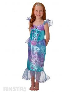 Become a part of her world under the sea when you dress up as Ariel from The Little Mermaid with this beautiful Disney Princess costume for children.