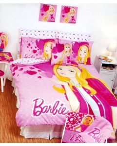 Barbie Hearts Quilt Cover Set