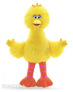 The lovable and huggable canary, Big Bird, from the Sesame Street GUND plushy collection will surely brighten any day!