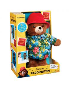 Dance to the Calypso beat with Paddington Bear dressed in a reversible tropical shirt and his removable signature red hat.