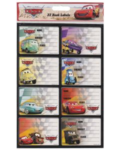 Disney Cars Book Labels