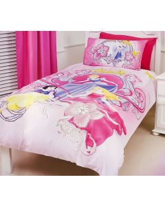 Disney Princess Crown Glitter Bedding Quilt Cover Set