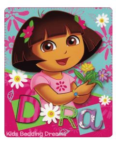Snuggle with Dora and this a-dora-ble fleece blanket that will keep you, comfortable, cozy and warm.