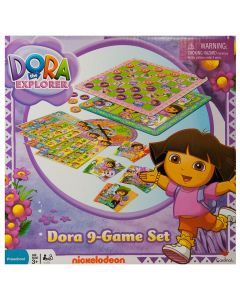 Play a game of checkers, tic tac toe, rummy, bingo or memory with Dora and her friends.