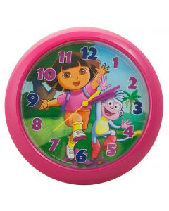 Learn to tell the time with Dora and Boots the monkey and this fun wall clock.