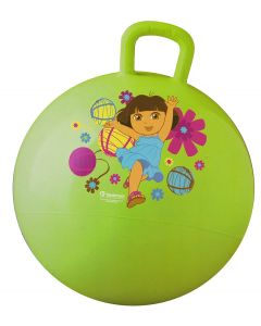 Bounce and jump into adventure with Dora on this green hopper ball that is the perfect outdoor toy to encourage physical activity.