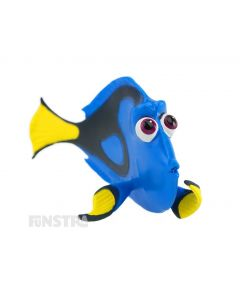 'Just keep swimming...' Dory is a blue-tang fish who suffers from short-term memory loss and is a fun toy for imaginative play and makes a cute cake topper for your Finding Dory party.