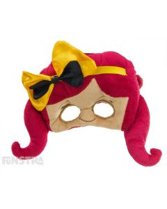 Bowtiful! The Emma face mask features the yellow Wiggle's signature bow is a perfect accessory to complete your Emma costume.