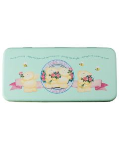Forever Friends Pencil Tin Green