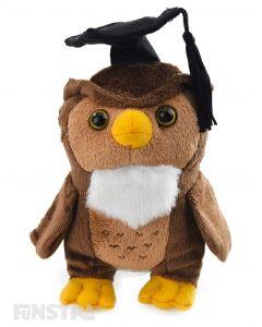 Graduation Owl Beanie Plush Toy Stuffed Owl