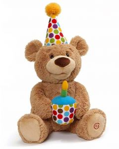 GUND Happy Birthday Animated Teddy Bear Singing Toy