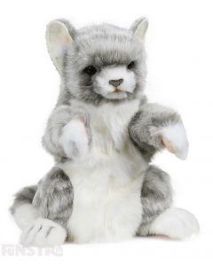 Hansa Creation Realistic Grey Cat Puppet