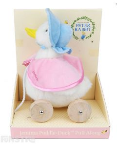 Jemima Puddle-Duck is a favorite Beatrix Potter character and this adorable pull along toy will delight children.