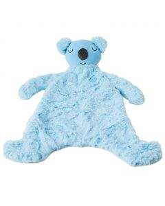 Kip the koala security blanket is blue and an adorable companion, soother and comfort object for infants.