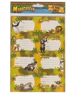 Madagascar Book Labels