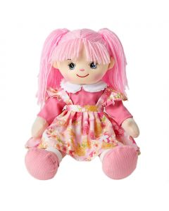 Jill is gorgeous rag doll with light pink hair and wears a floral pink pinafore dress and loves puppies and baking cookies.