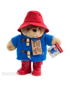 Paddington Bear Plush Toy with Boots & Embroidered Jacket Medium Teddy