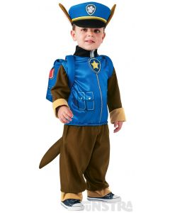 Dress up as Chase the German shepherd puppy, wearing his police and traffic cop dog jumpsuit, hat, pup pack and star badge.
