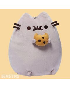Pusheen the cat loves chocolate chip cookies! The Pusheen Cookie plush toy from GUND is a fun plushy for anyone that enjoys eating cookies.