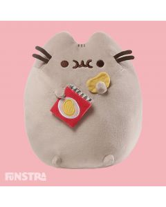 Love potato chips? Pusheen loves snacking on a pack of potato chips and is the perfect companion for fans of the kitty cat.