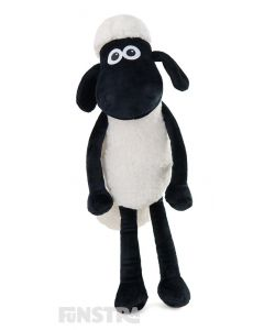 A Shaun plush doll is the perfect companion to cuddle for fans of the shear madness of the animated series.