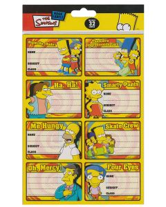 The Simpsons Book Labels