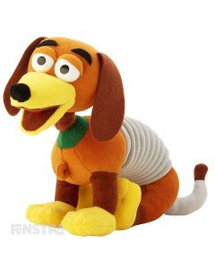 Cuddle and stretch Slinky Dog from Toy Story.
