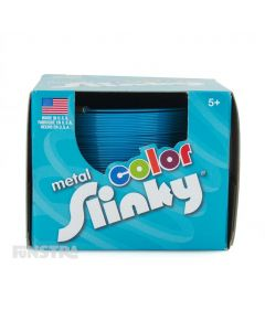 Metal Color Slinky Toy Blue
