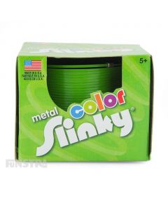 Metal Color Slinky Toy Green