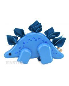 Wooden Stegosaurus Dinosaur Toy
