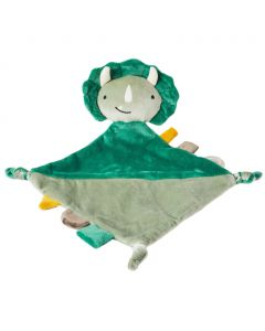 Theo the Triceratops dinosaur security blanket is an adorable companion, soother and comfort object for infants.