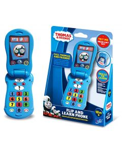 Call the number one blue engine, Thomas the Tank Engine, on the flip and learn phone!