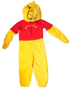 Dress up as Pooh with this wonderful costume for toddlers, complete with yellow fur, red shirt and cute Pooh bear headpiece.