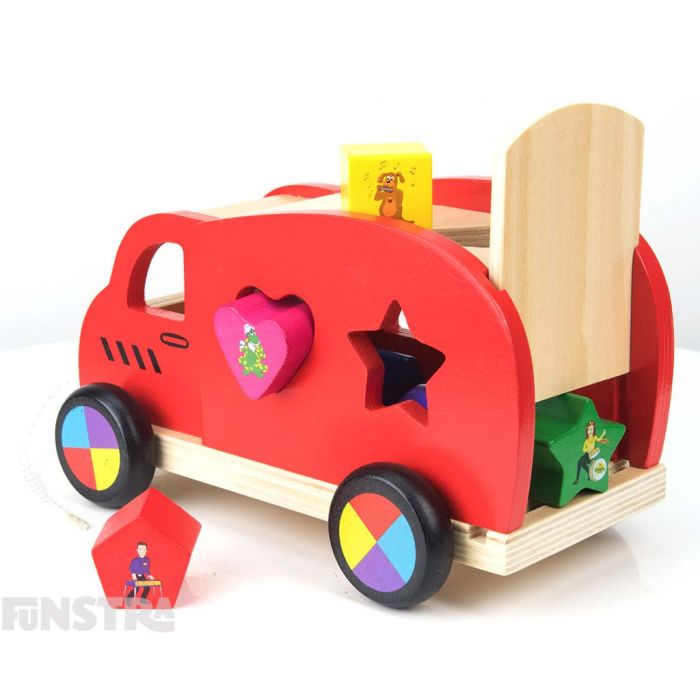 Keep all the characters and shapes in the Big Red Van.