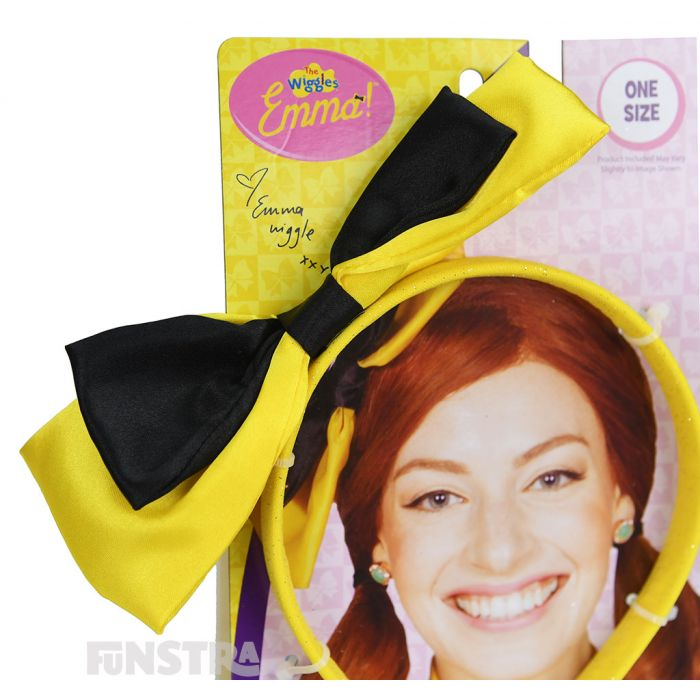 A yellow bow is a must for any yellow Wiggle costume