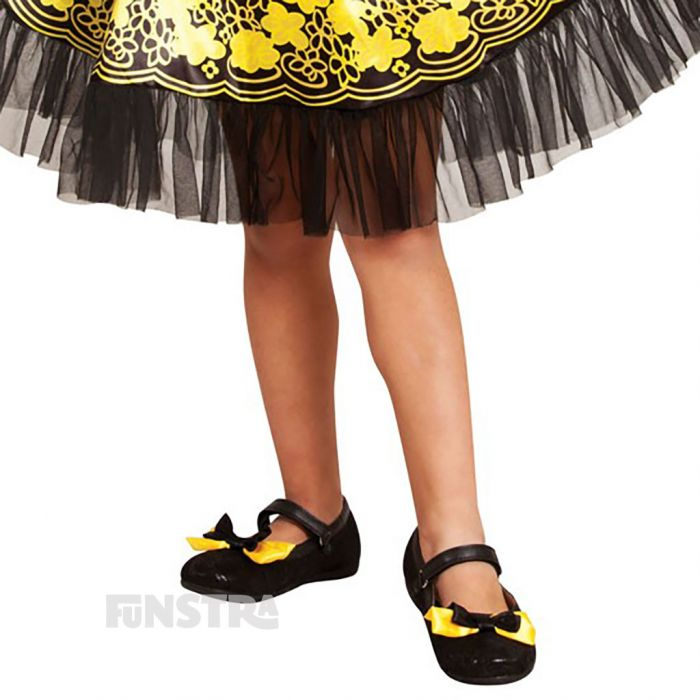 Cute shoe bows complete your yellow Emma outfit