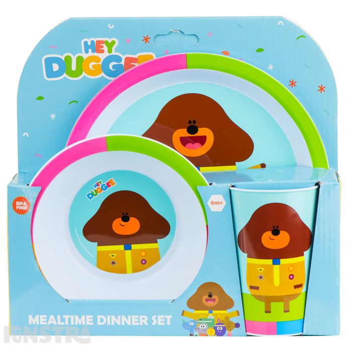 Mealtime set is perfectly packaged and makes a great gift for toddler and preschool fans of the TV show.
