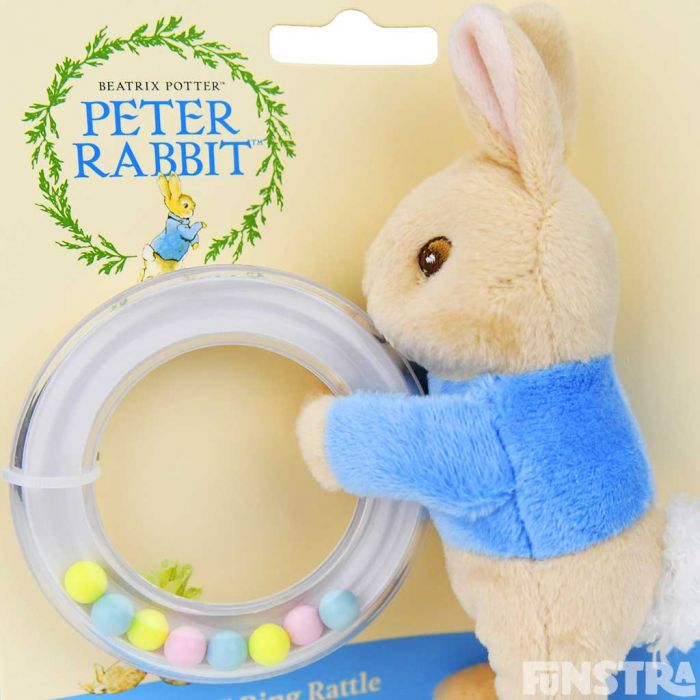 The ring rattle is filled with yellow, blue and pink balls that will amuse infants and will produce a soft sound as it's shaken.