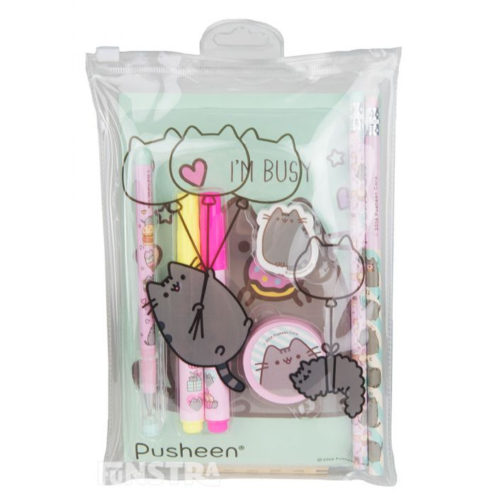 Supplies are perfectly packaged in a cute pouch with Stormy that makes a fun Pusheen pencil case