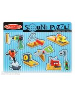 Hear the sounds of construction tools with this fun sound jigsaw puzzle from Melissa & Doug, featuring a drill, hammer, sander, wrench, stapler, saw, tape measure and jack hammer.