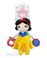 The Snow White from Snow White and the Seven Dwarfs activity toy helps to develop your little one's senses and fine motor skills with a rattle, squeaker and teether from Disney Baby.