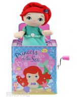 The princess of the sea, Ariel, pops out of Disney Princess jack in the box, offering plenty of fun and entertainment with this beautiful Disney Baby classic toy that will put a smile on little faces.
