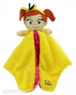 The yellow Wiggle, Emma, plush toy and blanket is super soft and ready for lots of cuddles to comfort baby.