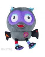 Boo! It's the plush toy of Giggle Fangs from his Batty Lair