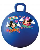 Bounce with Mickey Mouse and Minnie Mouse on this blue Disney hopper ball with the iconic characters surrounded by love hearts, butterflies and flowers, perfect for children that love the Mickey Mouse Clubhouse.