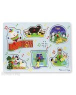 Sing along to the nursery rhymes with this fun sound jigsaw puzzle from Melissa & Doug, featuring Humpty Dumpty, Baa Baa Black Sheep, Hey Diddle Diddle, Mary Had a Little Lamb, Twinkle Twinkle Little Star, and Jack and Jill.