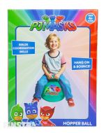 Join super heroes Catboy, Owlette and Gekko on their adventures as you jump around on this bouncy PJ Masks space hopper toy.