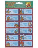 Scooby Doo Stickers Book Labels