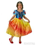 Live the fairytale dream and become the fairest of them all when you dress up as Snow White from Snow White and the Seven Dwarfs with this beautiful Disney Princess costume for children.